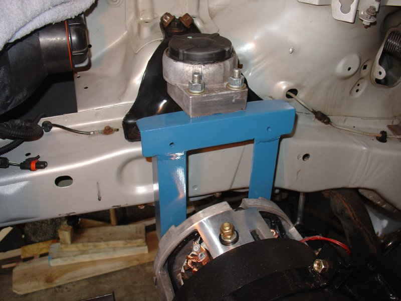 Installing the electric motor for Electric motor mount bracket