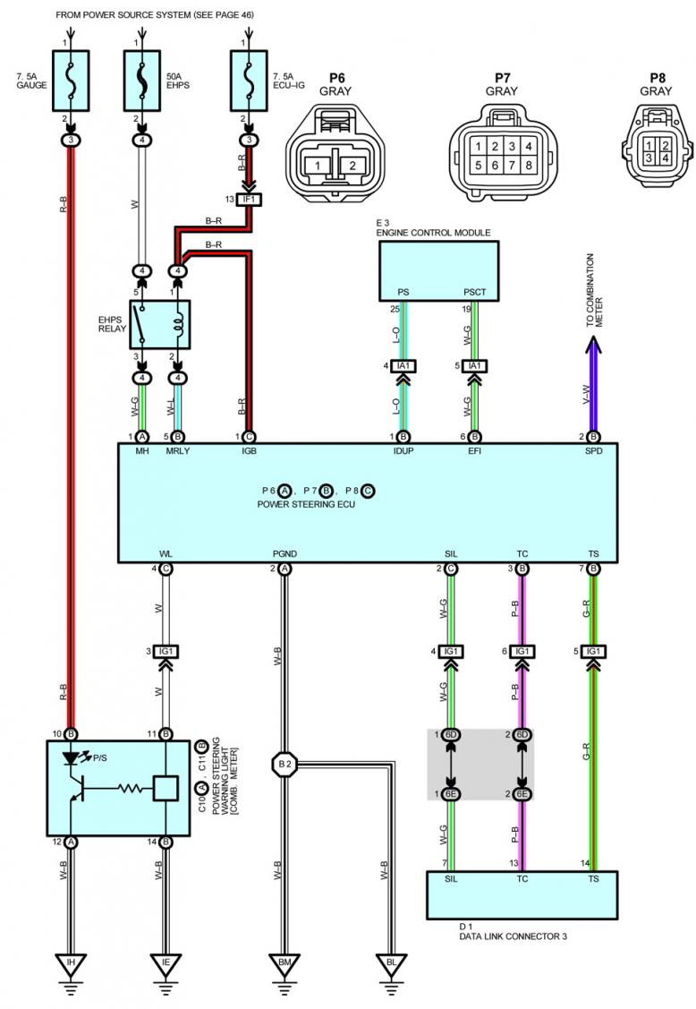 Power Steering Pump Basic Wiring Diagram Speed Original The Connections That I Made To Are Shown In Picture Below However Discovered Connecting Vehicle Sensor